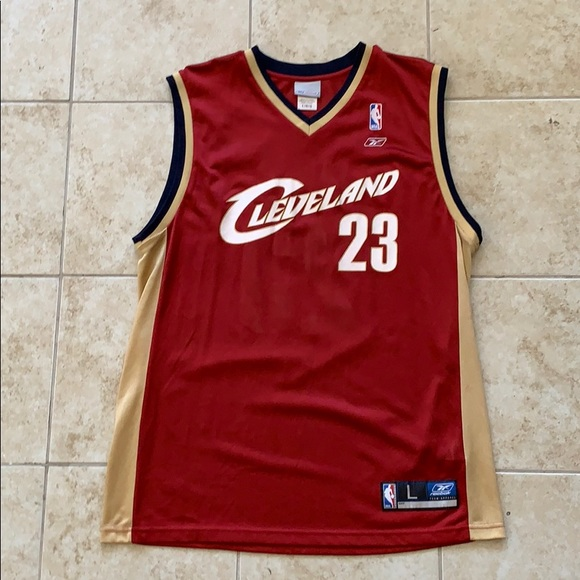 official photos 308f8 c9206 Reebok Cleveland Cavaliers Lebron James #23 Jersey